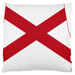 Flag Map Of Alabama Large Cushion Case (two Sides) by abbeyz71