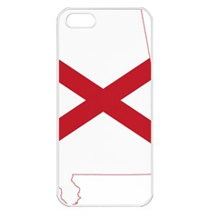 Flag Map Of Alabama Apple Iphone 5 Seamless Case (white) by abbeyz71