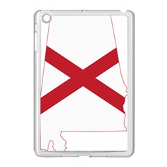 Flag Map Of Alabama Apple Ipad Mini Case (white) by abbeyz71