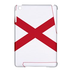 Flag Map Of Alabama Apple Ipad Mini Hardshell Case (compatible With Smart Cover) by abbeyz71
