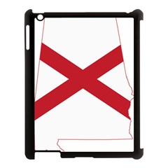 Flag Map Of Alabama Apple Ipad 3/4 Case (black) by abbeyz71