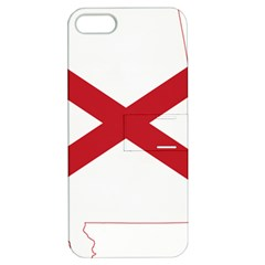 Flag Map Of Alabama Apple Iphone 5 Hardshell Case With Stand by abbeyz71