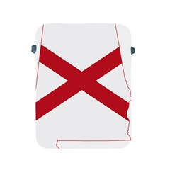Flag Map Of Alabama Apple Ipad 2/3/4 Protective Soft Cases by abbeyz71