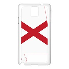 Flag Map Of Alabama Samsung Galaxy Note 3 N9005 Case (white) by abbeyz71