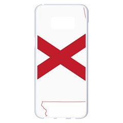 Flag Map Of Alabama Samsung Galaxy S8 Plus White Seamless Case by abbeyz71