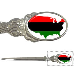 Pan African Flag Map Of United States Letter Opener by abbeyz71