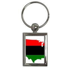 Pan African Flag Map Of United States Key Chains (rectangle)  by abbeyz71