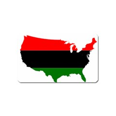 Pan African Flag Map Of United States Magnet (name Card) by abbeyz71