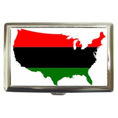 Pan African Flag Map Of United States Cigarette Money Case by abbeyz71