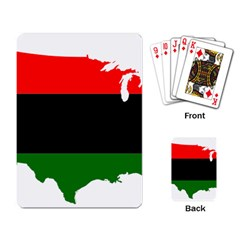 Pan African Flag Map Of United States Playing Cards Single Design by abbeyz71