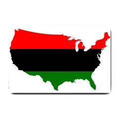 Pan African Flag Map Of United States Small Doormat  by abbeyz71