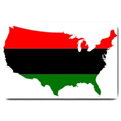 Pan African Flag Map Of United States Large Doormat  by abbeyz71