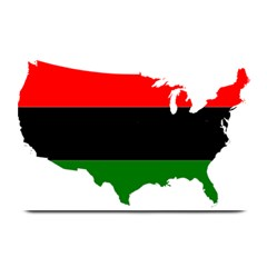 Pan African Flag Map Of United States Plate Mats by abbeyz71