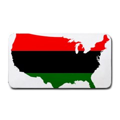 Pan African Flag Map Of United States Medium Bar Mats by abbeyz71