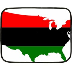 Pan African Flag Map Of United States Fleece Blanket (mini) by abbeyz71