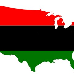 Pan African Flag Map Of United States Magic Photo Cube by abbeyz71