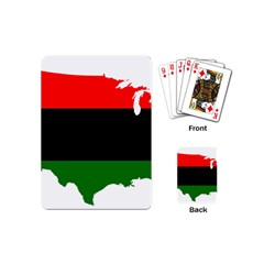 Pan African Flag Map Of United States Playing Cards (mini) by abbeyz71