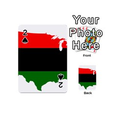 Pan African Flag Map Of United States Playing Cards 54 (mini) by abbeyz71