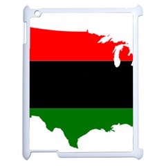 Pan African Flag Map Of United States Apple Ipad 2 Case (white) by abbeyz71