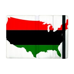 Pan African Flag Map Of United States Apple Ipad Mini Flip Case by abbeyz71