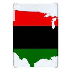 Pan African Flag Map Of United States Apple Ipad Mini Hardshell Case by abbeyz71