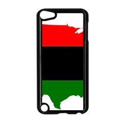Pan African Flag Map Of United States Apple Ipod Touch 5 Case (black) by abbeyz71