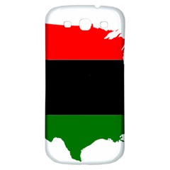 Pan African Flag Map Of United States Samsung Galaxy S3 S Iii Classic Hardshell Back Case by abbeyz71