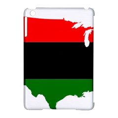 Pan African Flag Map Of United States Apple Ipad Mini Hardshell Case (compatible With Smart Cover) by abbeyz71