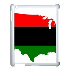 Pan African Flag Map Of United States Apple Ipad 3/4 Case (white) by abbeyz71