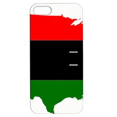 Pan African Flag Map Of United States Apple Iphone 5 Hardshell Case With Stand by abbeyz71
