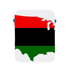 Pan African Flag Map Of United States Apple Ipad 2/3/4 Protective Soft Cases by abbeyz71