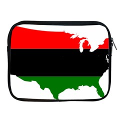 Pan African Flag Map Of United States Apple Ipad 2/3/4 Zipper Cases by abbeyz71