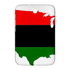 Pan African Flag Map Of United States Samsung Galaxy Note 8 0 N5100 Hardshell Case  by abbeyz71