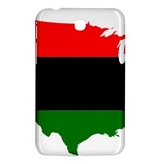 Pan African Flag Map Of United States Samsung Galaxy Tab 3 (7 ) P3200 Hardshell Case  by abbeyz71