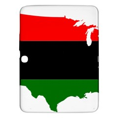 Pan African Flag Map Of United States Samsung Galaxy Tab 3 (10 1 ) P5200 Hardshell Case  by abbeyz71