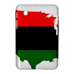 Pan African Flag Map Of United States Samsung Galaxy Tab 2 (7 ) P3100 Hardshell Case  by abbeyz71