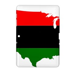 Pan African Flag Map Of United States Samsung Galaxy Tab 2 (10 1 ) P5100 Hardshell Case  by abbeyz71