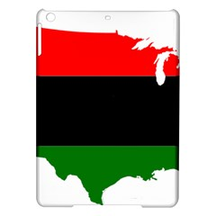 Pan African Flag Map Of United States Ipad Air Hardshell Cases by abbeyz71