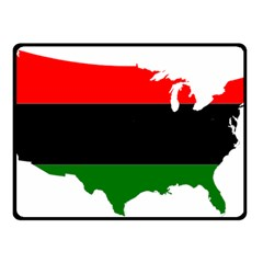 Pan African Flag Map Of United States Double Sided Fleece Blanket (small)  by abbeyz71