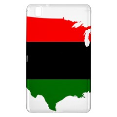 Pan African Flag Map Of United States Samsung Galaxy Tab Pro 8 4 Hardshell Case by abbeyz71