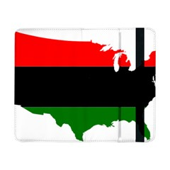 Pan African Flag Map Of United States Samsung Galaxy Tab Pro 8 4  Flip Case by abbeyz71