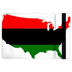 Pan African Flag Map Of United States Ipad Air 2 Flip by abbeyz71
