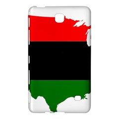 Pan African Flag Map Of United States Samsung Galaxy Tab 4 (7 ) Hardshell Case  by abbeyz71