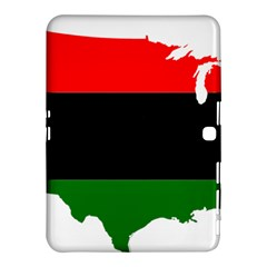 Pan African Flag Map Of United States Samsung Galaxy Tab 4 (10 1 ) Hardshell Case  by abbeyz71