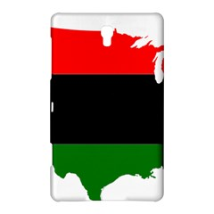 Pan African Flag Map Of United States Samsung Galaxy Tab S (8 4 ) Hardshell Case  by abbeyz71