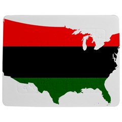 Pan African Flag Map Of United States Jigsaw Puzzle Photo Stand (rectangular)