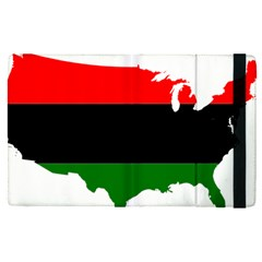 Pan African Flag Map Of United States Apple Ipad Pro 12 9   Flip Case by abbeyz71