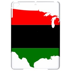 Pan African Flag Map Of United States Apple Ipad Pro 9 7   Hardshell Case by abbeyz71