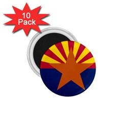 Flag Map Of Arizona 1 75  Magnets (10 Pack)  by abbeyz71