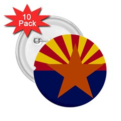 Flag Map Of Arizona 2 25  Buttons (10 Pack)  by abbeyz71